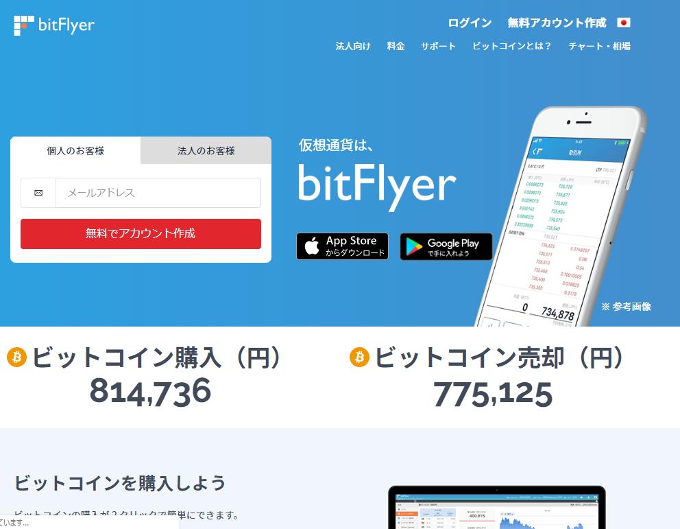 ビットフライヤ―仮想通貨取引所ランキング